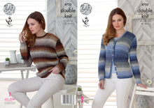 Load image into Gallery viewer, http://images.esellerpro.com/2278/I/130/131/king-cole-double-knit-dk-pattern-ladies-womens-sweater-cardigan-4725.jpg