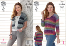 Load image into Gallery viewer, http://images.esellerpro.com/2278/I/130/137/king-cole-double-knit-dk-pattern-ladies-womens-sweater-cardigan-4727.jpg