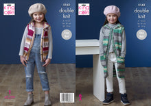 Load image into Gallery viewer, http://images.esellerpro.com/2278/I/151/410/king-cole-double-knit-knitting-pattern-girls-waistcoats-5162.jpg