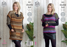 Load image into Gallery viewer, http://images.esellerpro.com/2278/I/146/017/king-cole-double-knit-knitting-pattern-ladies-womens-tunic-top-5021.jpg