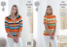 Load image into Gallery viewer, http://images.esellerpro.com/2278/I/136/812/king-cole-double-knitting-dk-pattern-womens-ladies-cardigan-polo-neck-top-4836.jpg