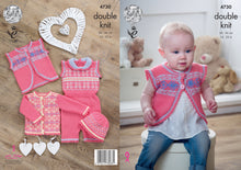 Load image into Gallery viewer, http://images.esellerpro.com/2278/I/134/489/king-cole-double-knitting-pattern-baby-sweater-waistcoat-playsuit-hat-4730.jpg