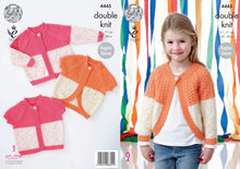 Load image into Gallery viewer, http://images.esellerpro.com/2278/I/124/676/king-cole-double-knitting-pattern-girls-raglan-sleeve-cardigans-4445.jpg
