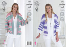 Load image into Gallery viewer, http://images.esellerpro.com/2278/I/139/856/king-cole-double-knitting-pattern-ladies-womens-easy-knit-kimono-style-cardigans-4773.jpg