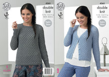 Load image into Gallery viewer, http://images.esellerpro.com/2278/I/124/546/king-cole-double-knitting-pattern-ladies-womens-raglan-sleeve-cardigan-sweater-4365.jpg