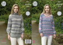 Load image into Gallery viewer, http://images.esellerpro.com/2278/I/142/395/king-cole-double-knitting-pattern-ladies-womens-sweaters-4957.jpg