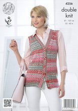 Load image into Gallery viewer, http://images.esellerpro.com/2278/I/119/149/king-cole-drifter-double-knitting-dk-pattern-cardigan-waistcoat-4256-back.jpg