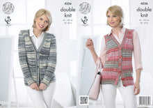 Load image into Gallery viewer, http://images.esellerpro.com/2278/I/119/149/king-cole-drifter-double-knitting-dk-pattern-cardigan-waistcoat-4256.jpg