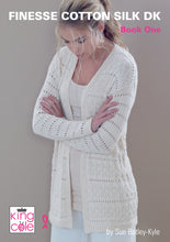 Load image into Gallery viewer, http://images.esellerpro.com/2278/I/150/475/king-cole-finesse-cotton-silk-dk-double-knit-ladies-womens-knitting-pattern-book-one-1.jpg