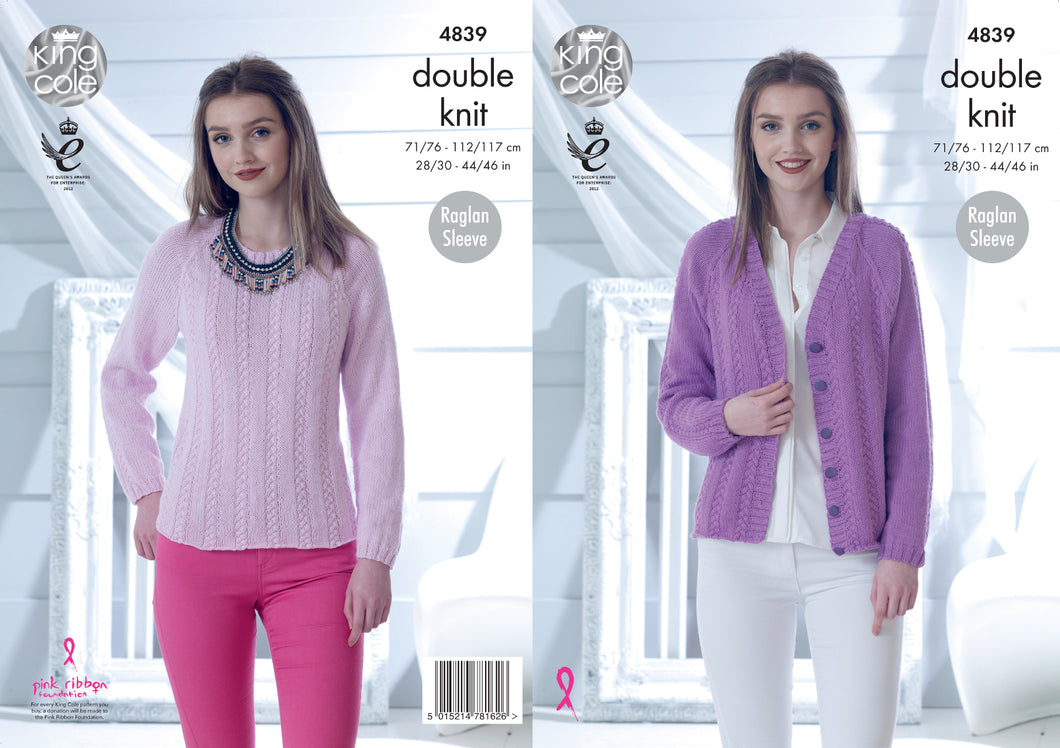 http://images.esellerpro.com/2278/I/136/674/king-cole-ladies-womens-double-knitting-pattern-raglan-sleeve-sweater-cardigan-4839.jpg