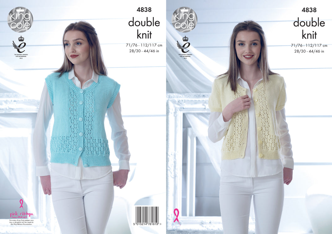 http://images.esellerpro.com/2278/I/136/671/king-cole-ladies-womens-double-knitting-pattern-short-sleeve-sleeveless-lace-top-4838.jpg