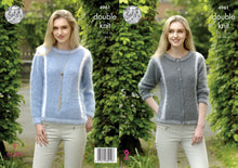 Load image into Gallery viewer, http://images.esellerpro.com/2278/I/145/948/king-cole-ladies-womens-double-knitting-pattern-sweater-cardigan-4961.jpg