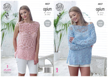 Load image into Gallery viewer, http://images.esellerpro.com/2278/I/136/656/king-cole-ladies-womens-opium-knitting-pattern-off-shoulder-sweater-sleeveless-top-4827-border.jpg