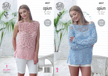 Load image into Gallery viewer, http://images.esellerpro.com/2278/I/136/656/king-cole-ladies-womens-opium-knitting-pattern-off-shoulder-sweater-sleeveless-top-4827.jpg