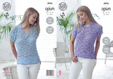 Load image into Gallery viewer, http://images.esellerpro.com/2278/I/136/653/king-cole-ladies-womens-opium-knitting-pattern-open-cold-shoulder-round-v-neck-tops-4826.jpg