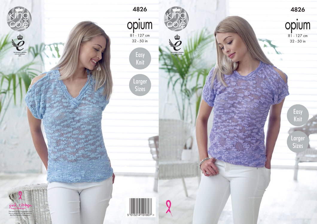 http://images.esellerpro.com/2278/I/136/653/king-cole-ladies-womens-opium-knitting-pattern-open-cold-shoulder-round-v-neck-tops-4826.jpg