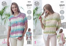 Load image into Gallery viewer, http://images.esellerpro.com/2278/I/136/659/king-cole-ladies-womens-opium-knitting-pattern-open-wrap-back-tops-4828.jpg