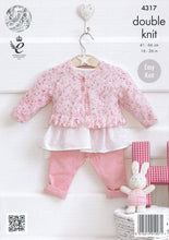 Load image into Gallery viewer, http://images.esellerpro.com/2278/I/119/181/king-cole-smarty-double-knitting-dk-baby-girls-round-v-neck-cardigans-4317-back.jpg