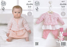Load image into Gallery viewer, http://images.esellerpro.com/2278/I/119/181/king-cole-smarty-double-knitting-dk-baby-girls-round-v-neck-cardigans-4317.jpg