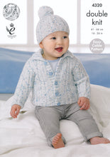 Load image into Gallery viewer, http://images.esellerpro.com/2278/I/119/193/king-cole-smarty-double-knitting-dk-childrens-cardigans-hats-4320-front.jpg