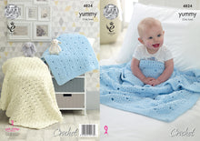 Load image into Gallery viewer, http://images.esellerpro.com/2278/I/139/820/king-cole-yummy-crochet-pattern-baby-shell-textured-blankets-4824.jpg
