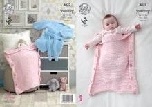 Load image into Gallery viewer, http://images.esellerpro.com/2278/I/139/817/king-cole-yummy-knitting-pattern-baby-robe-sleeping-bag-4823.jpg