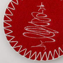 Load image into Gallery viewer, http://images.esellerpro.com/2278/I/122/507/merry-christmas-felt-snowflake-xmas-tree-coaster-close-up.jpg