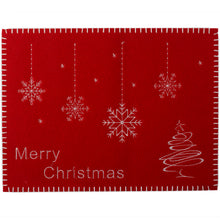 Load image into Gallery viewer, http://images.esellerpro.com/2278/I/122/507/merry-christmas-xmas-festive-placemat-table-mat-linen-red-white.jpg