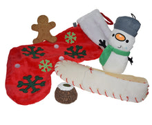 Load image into Gallery viewer, http://images.esellerpro.com/2278/I/134/477/petface-christmas-xmas-festive-dog-puppy-toy-pack-snowman-stocking-set.JPG