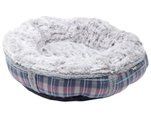 Load image into Gallery viewer, http://images.esellerpro.com/2278/I/148/852/petface-dove-grey-check-donut-bed-cat-dog-bedding.jpg