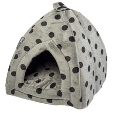 Load image into Gallery viewer, http://images.esellerpro.com/2278/I/126/875/petface-plush-polka-dot-cat-igloo-cave.jpg