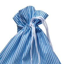 Load image into Gallery viewer, http://images.esellerpro.com/2278/I/153/806/striped-cotton-drawstring-laundry-bag-sack-blue-close-up.jpg