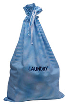 Load image into Gallery viewer, http://images.esellerpro.com/2278/I/153/806/striped-cotton-drawstring-laundry-bag-sack-blue.jpg