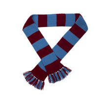 Load image into Gallery viewer, http://images.esellerpro.com/2278/I/113/387/striped-football-sports-scarf-claret-sky-blue.jpg