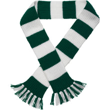 Load image into Gallery viewer, http://images.esellerpro.com/2278/I/113/387/striped-football-sports-scarf-green-white.jpg