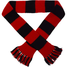 Load image into Gallery viewer, http://images.esellerpro.com/2278/I/113/387/striped-football-sports-scarf-red-black.jpg