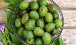 Green olives with stone 300 g jar