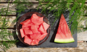A part of a quarter of Spanish watermelon ~ 1.20kg