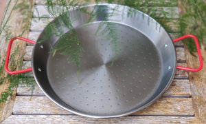 Frying pan for Paella for 9 persons