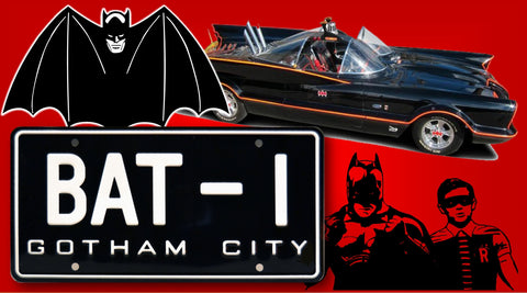 "Batmobile <br>""BAT-I""<br>  Collectible License Plate"