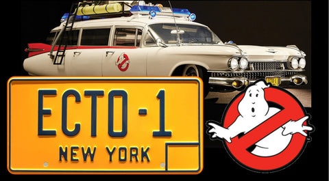 "Ghostbusters<br> ""ECTO-1"" </br> Collectible License Plate"