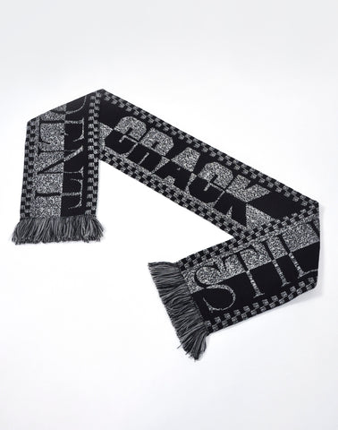 Still Independent: Black and White Scarf