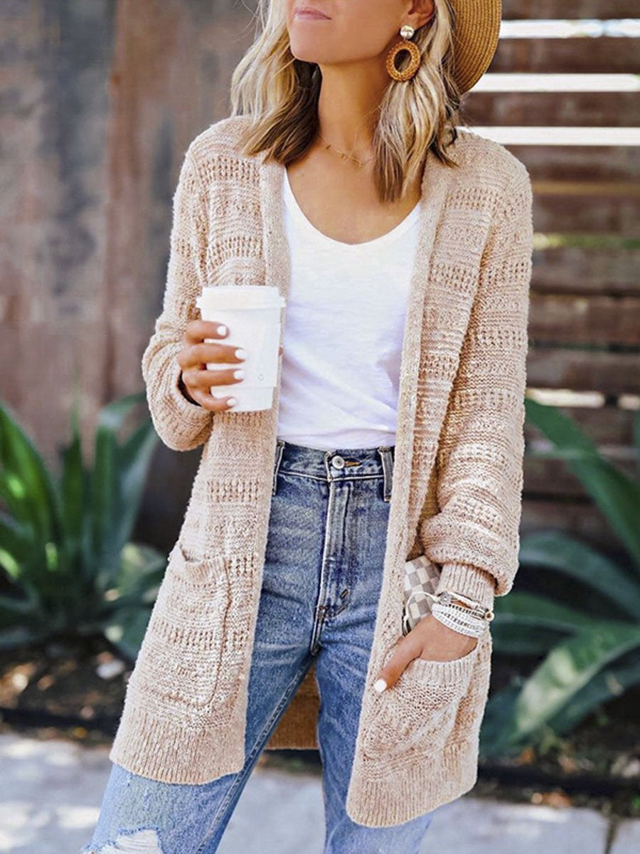 Winter Long Cardigans Women Knitted Jackets and