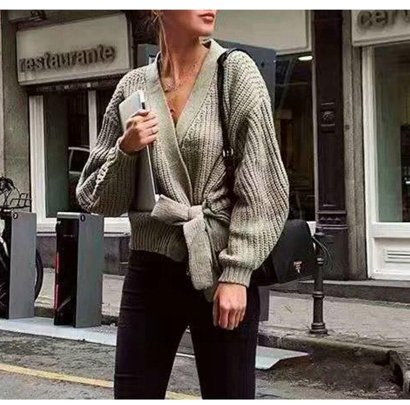 Elegant V-neck Sweater Cardigan