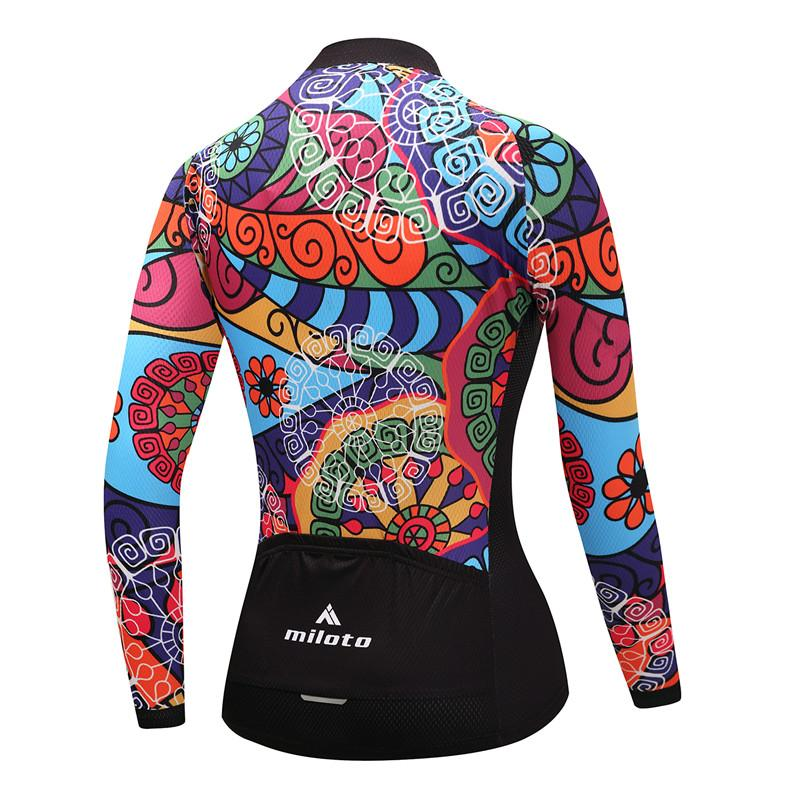 Women Long Sleeve Thermal Fleece Cycling Clothing