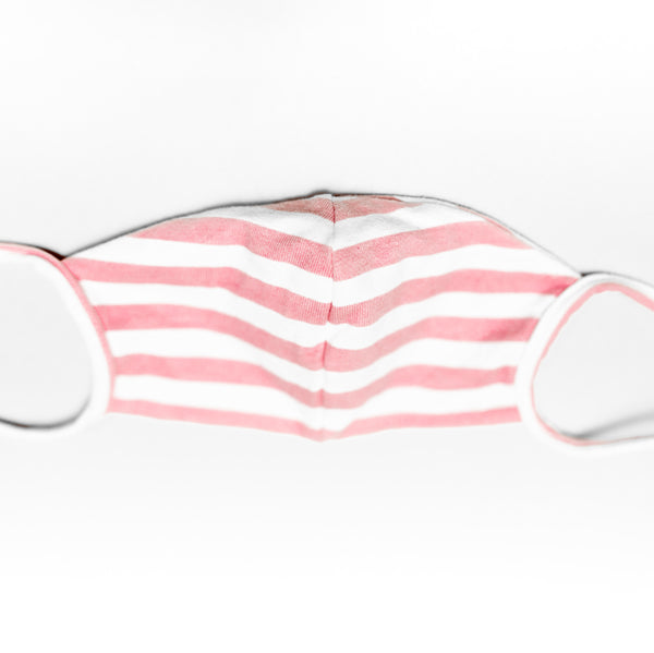 Cubre bocas - Pink Stripes 1 LITTLE N SAFE