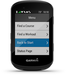 Back To Start on the Garmin Edge 530
