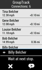 Rider-to-rider messaging with the Garmin Edge 1030