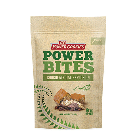 Chocolate Oat Explosion Power Bites - 8 Pack