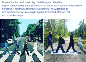 "Homeschool art and music day 19 - Iain Stewart MacMillan ""Abbey Road"""